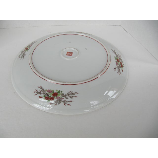 1990s Chinoiserie Flower Plate For Sale - Image 5 of 6