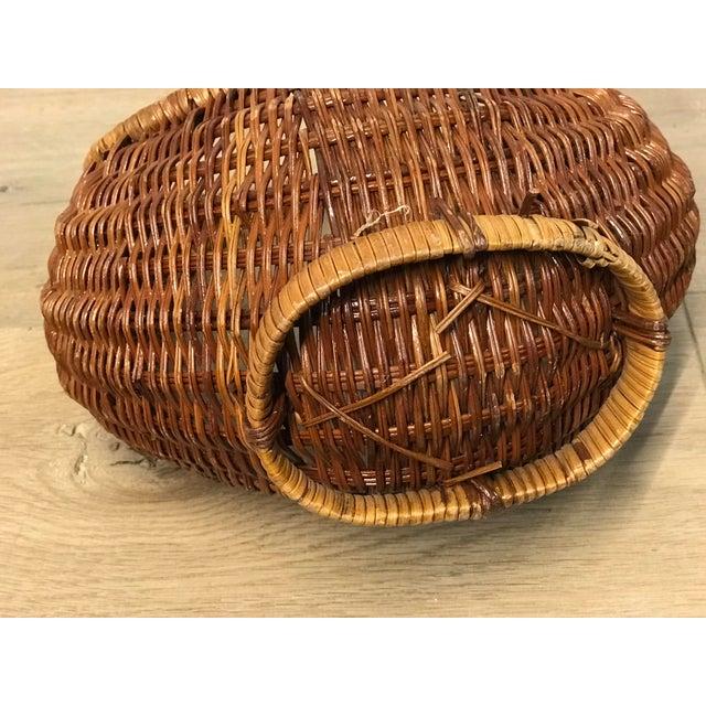 Wicker Nesting Gondola Woven Wicker Rattan Baskets - a Pair For Sale - Image 7 of 12
