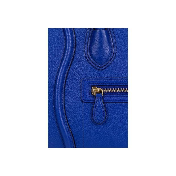 Contemporary Celine New Indigo Micro Luggage Bag For Sale - Image 3 of 10