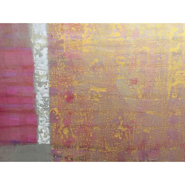 Abstract Christine Averill - Green, Credo Painting, 2017 For Sale - Image 3 of 6