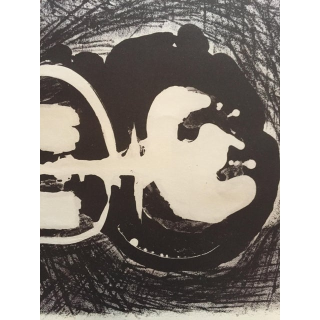 """Jerry Opper (1924-2014) Untitled c.1940-1950s Stone Lithograph on paper 13 1/4""""x19 1/4"""" unframed Unsigned Excellent..."""