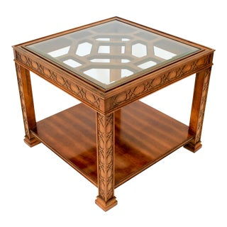 Square Fretwork Side Table For Sale