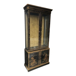 Chinoiserie Drexel Heritage Display Cabinet For Sale