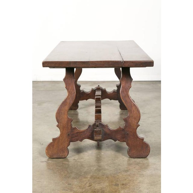 Antique Spanish Colonial Style Oak Coffee Table For Sale - Image 10 of 10