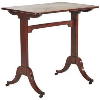 1760s Georgian Mahogany Side Table on Castors For Sale