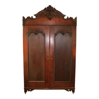 1800's Black Forest Bear Armoire For Sale