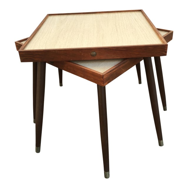Mid-Century Stacking Side Tables - Pair - Image 1 of 6