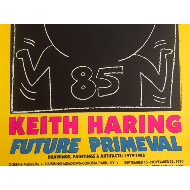 "Lithograph Keith Haring ""Future Primeval"" Original Offset Lithograph For Sale - Image 7 of 10"