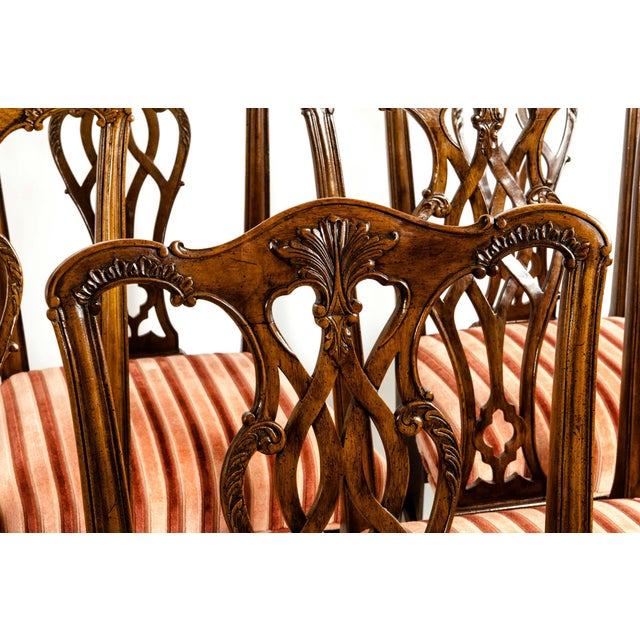 Mid 20th Century George III Style Mahogany Dining Chairs - Set of 8 For Sale - Image 5 of 13