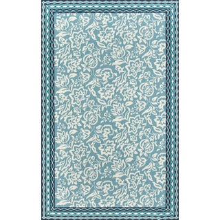 "Madcap Cottage Under a Loggia Rokeby Road Blue Indoor/Outdoor Area Rug 3'9"" X 5'9"" For Sale"