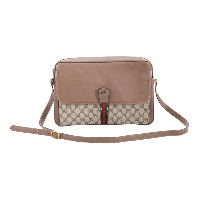 f02d516abb Vintage Gucci Accessory Collection Era Class Monogram Messenger Bag For Sale
