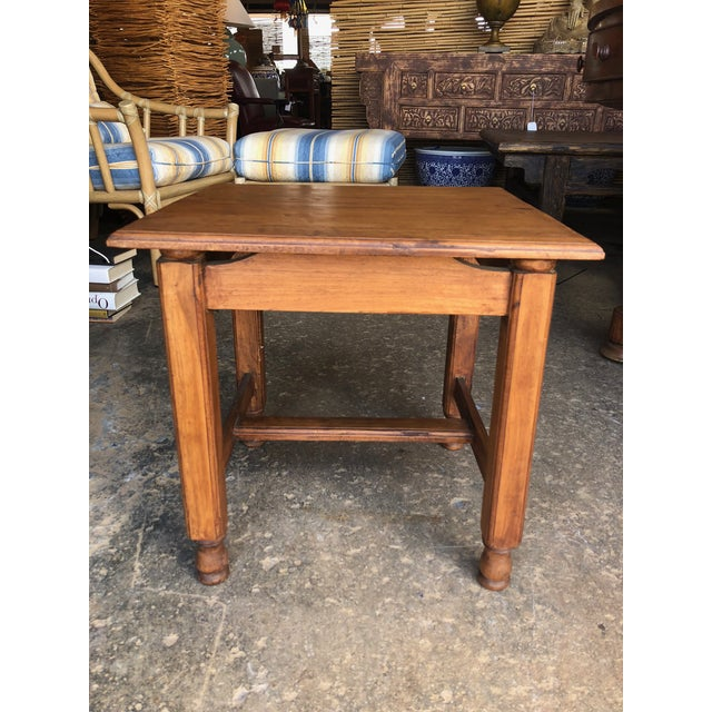 Early 21st Century Vintage Asian Teak Wood Side Table For Sale - Image 5 of 5