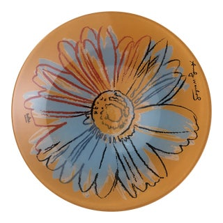 Rosenthal Studio Line Andy Warhol Abstract Flower Plate For Sale