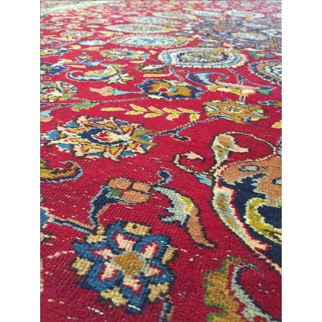 Vintage Persian Mashad Palace Rug - 9′9″ × 12′8″ - Image 6 of 10