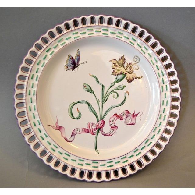 Ceramic Art Nouveau French Faience Enamel Decorated Emile Galle Nancy Plates, Signed - Set of 6 For Sale - Image 7 of 13