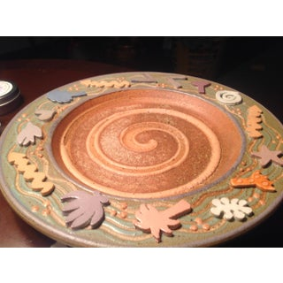 Late 20th Century Post-Modern Designer Pottery Plate Preview