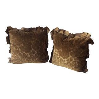 Velvet Pillows - a Pair For Sale