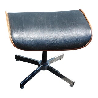 Handcrafted Eames Style Ottoman For Sale