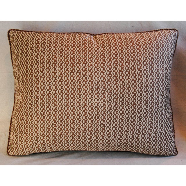Italian Mariano Fortuny Tapa Feather & Down Pillows - A Pair - Image 4 of 10