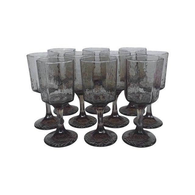 Vintage Octagonal Stemmed Glasses - Set of 10 - Image 1 of 10
