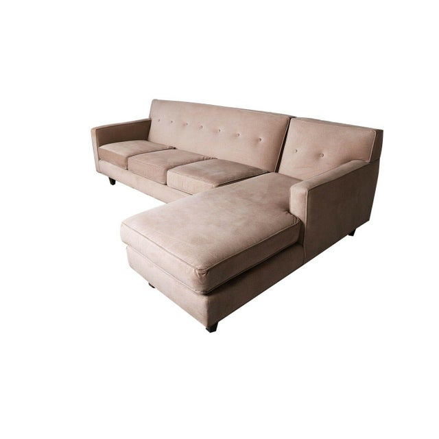 Rowe Furniture Sectional Sofa With Chaise For Sale - Image 4 of 12