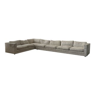 Mid Century Modern 2 Piece Sectional Sofa For Sale