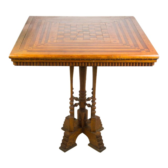 19th C. Victorian Parlor Game Table For Sale