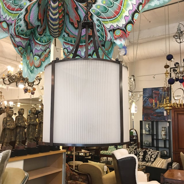 Design Plus Consignment Gallery presents a simply lovely pendant from J. H. Lighting & Brass Works. Constructed elegantly...