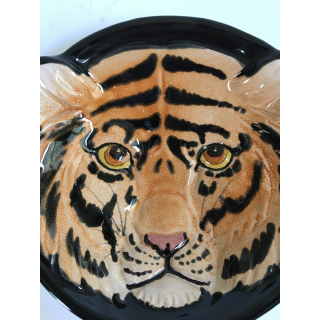 Vintage Mid-Century Italian Pottery Tiger Bowl For Sale - Image 4 of 9
