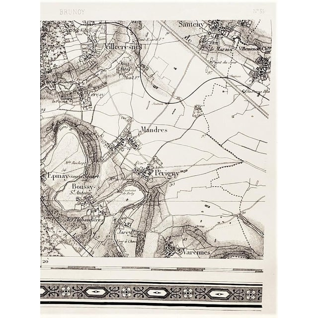 French Antique 1800s French Map Ile De France For Sale - Image 3 of 5