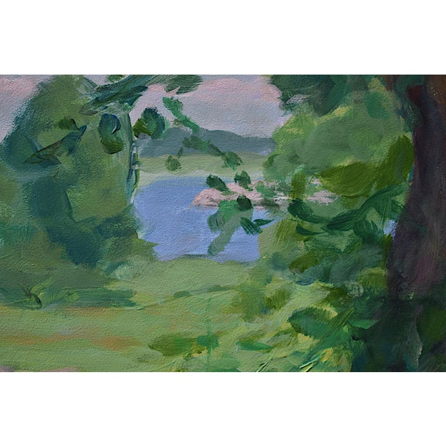 "Stephen Remick Contemporary ""Old Tree at AllensPond"" Plein Air Painting by Stephen Remick For Sale - Image 4 of 7"