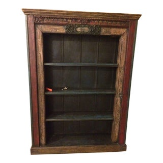 Indonesian Carved Hardwood Bookshelf
