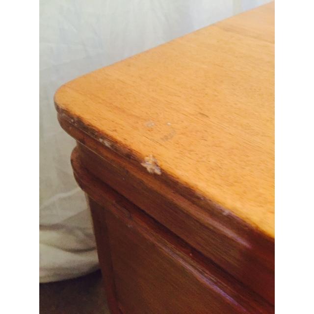 Art Deco Solid Light Oak Desk - Image 6 of 6