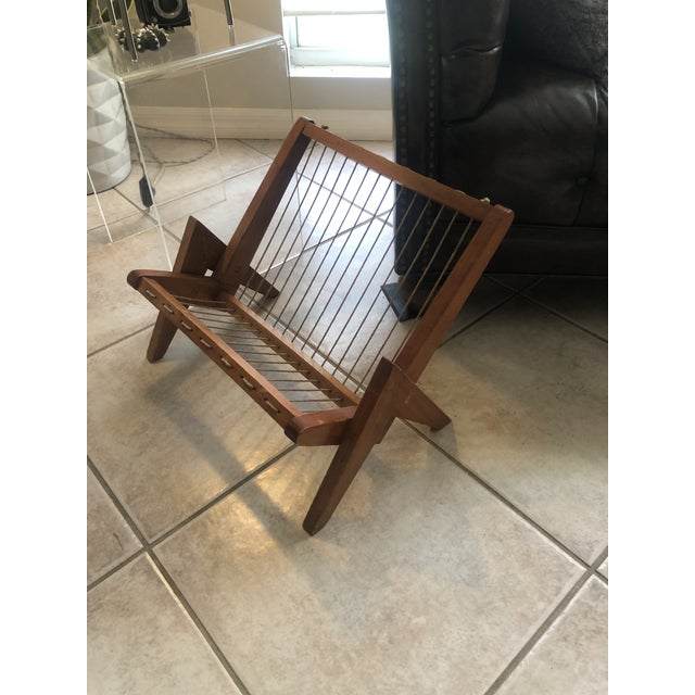 Wood Pierre Jeanneret Magazine Rack For Sale - Image 7 of 8