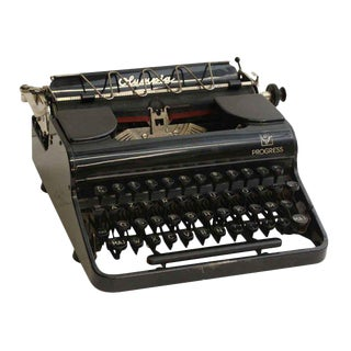 Antique French Portable Typewriter