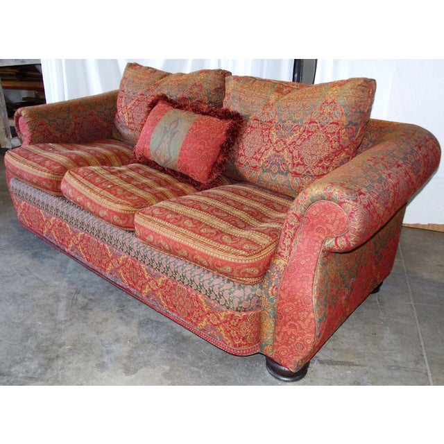Boho Chic Carol Bolton Boho Chic Sofa for E.J. Victor For Sale - Image 3 of 4