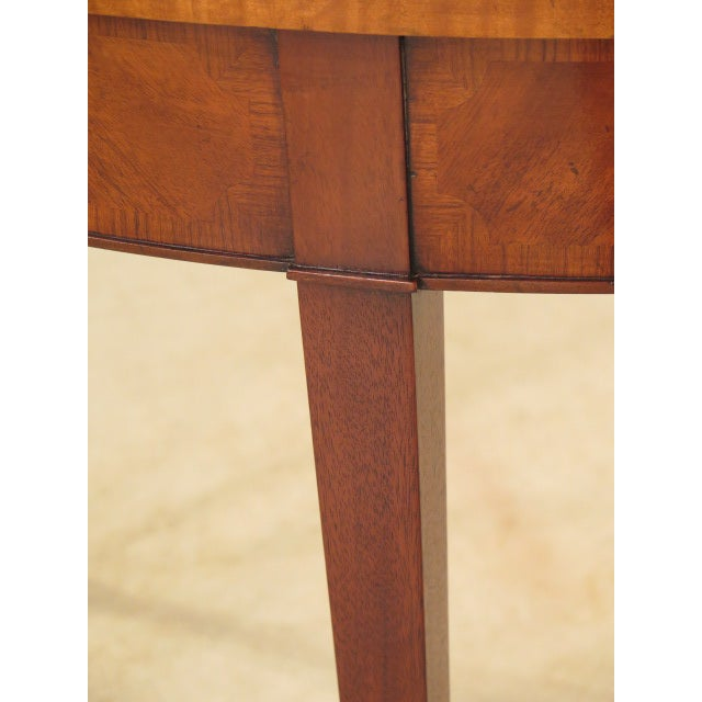 Federal Style Mahogany Demilune Tables - A Pair - Image 7 of 11
