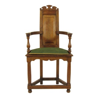 Early 18th Century Vintage French Baroque Arm Chair For Sale
