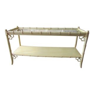 Palm Beach Vintage Faux Bamboo Console