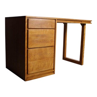 Mid Century Modern Birch Desk by Russel Wright For Conant Ball For Sale