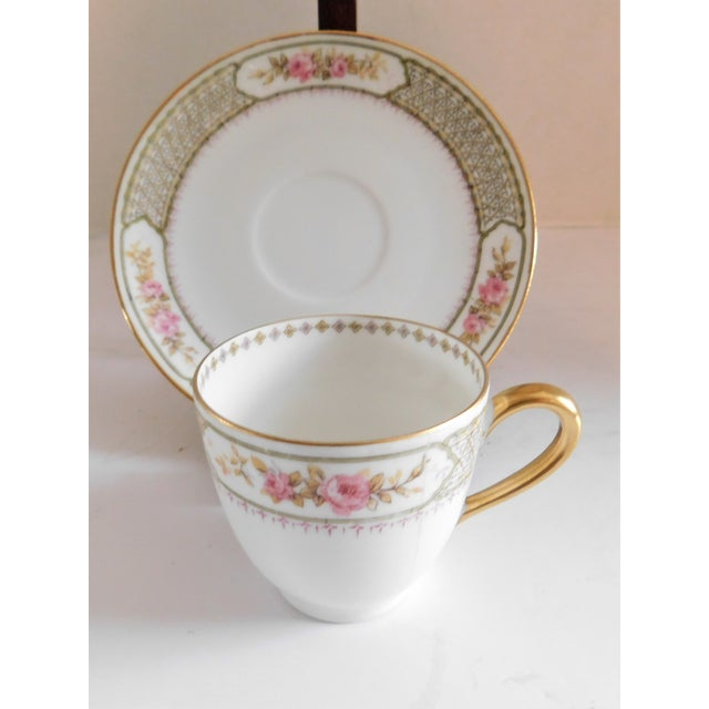 Shabby Chic Antique Porcelain Demi-Tasse Cups & Saucers German and Limoges MIX and Match Sets - Service for 6 For Sale - Image 3 of 13