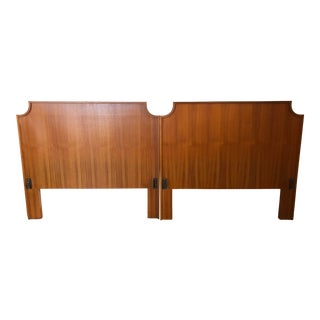 Vintage Mid Century Modern Danish Style Twin Size Headboards (A Pair) For Sale