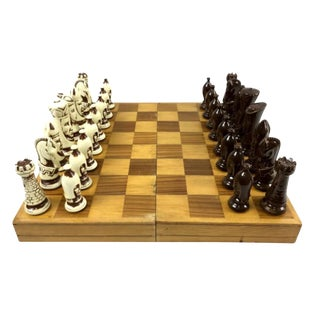 Vintage Ceramic Chess Set