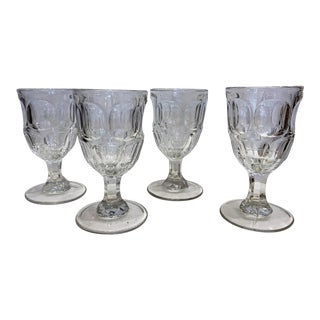19th Century Wine Goblets - Set of 4 For Sale