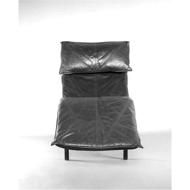 Metal Tord Bjorklund Chaise Lounge in Black Leather For Sale - Image 7 of 13