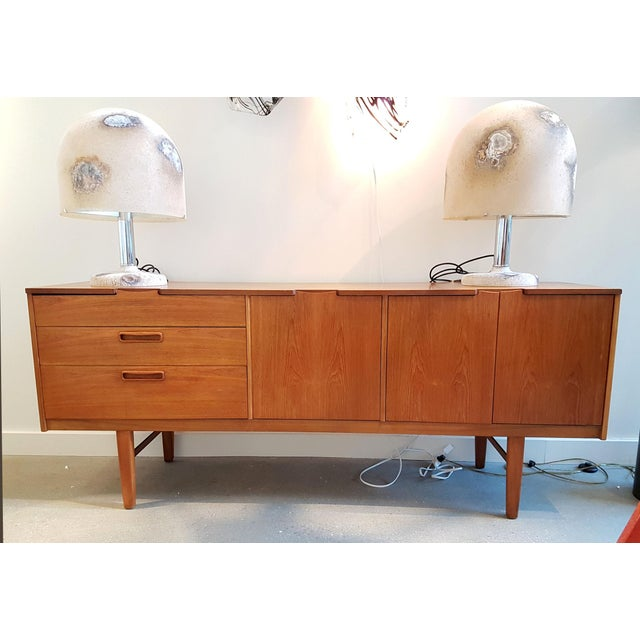 Tan Nathan Stamped English Clear Teak Sideboard, Buffet, Mid Century Modern, 1960s For Sale - Image 8 of 9