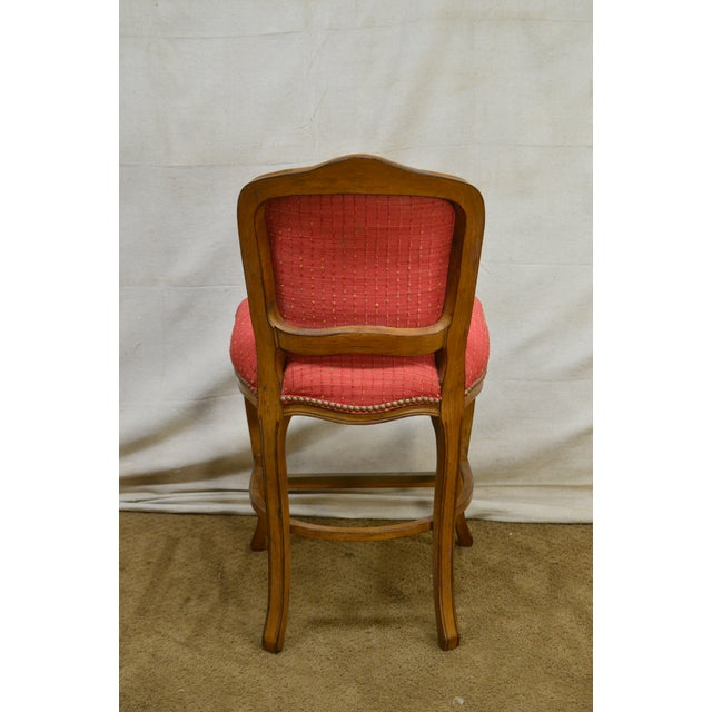 French Louis XV Style Set of 4 Bar Stools by Pama Furniture - Image 8 of 13