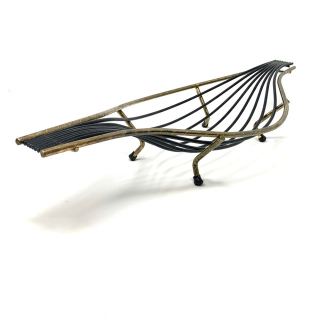 Mid-Century Modern Mid-Century Sculptural Wire Bowl For Sale - Image 3 of 8