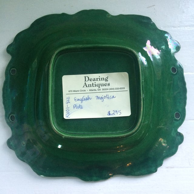 Antique English Majolica Plate - Image 4 of 4