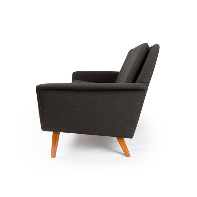 Dux Danish Modern Black Sofa & Lounge Chair - 2 Pc. Set For Sale In San Francisco - Image 6 of 13